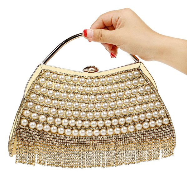 Luxury Handbags Women Bags Designe Evening Bag Tassel Rhinestones Clutches Wedding Bride Shoulder Crossbody Bags Banquet Handbag