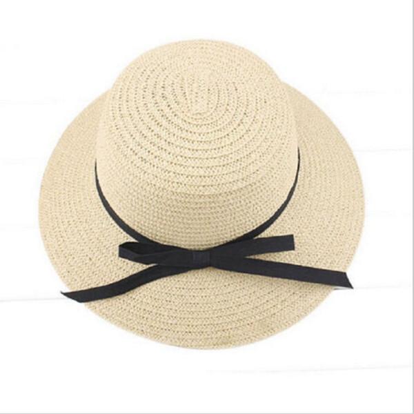 Fashion Summer hat for women Wide Brim Beach Sun headdress Straw Floppy Solid Elegant Bohemian Sun Hat