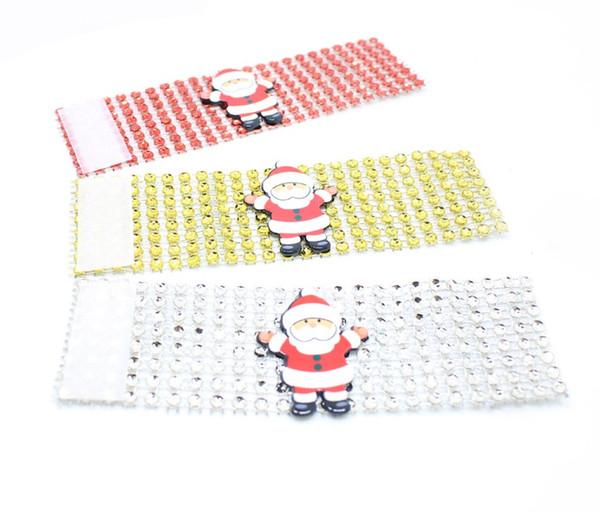 2000 PCS Napkin Holder For Hotel Napkin Ring Holder For Christmas Table Decoration Christmas Santa Napkin Ring Table Decor