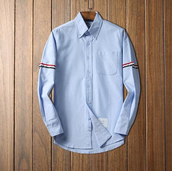 Camicia formale in cotone bianco a righe da uomo di lusso con maniche lunghe formali per uomo con camicie t-shirt da uomo vestibilità regolare all'ingrosso D3