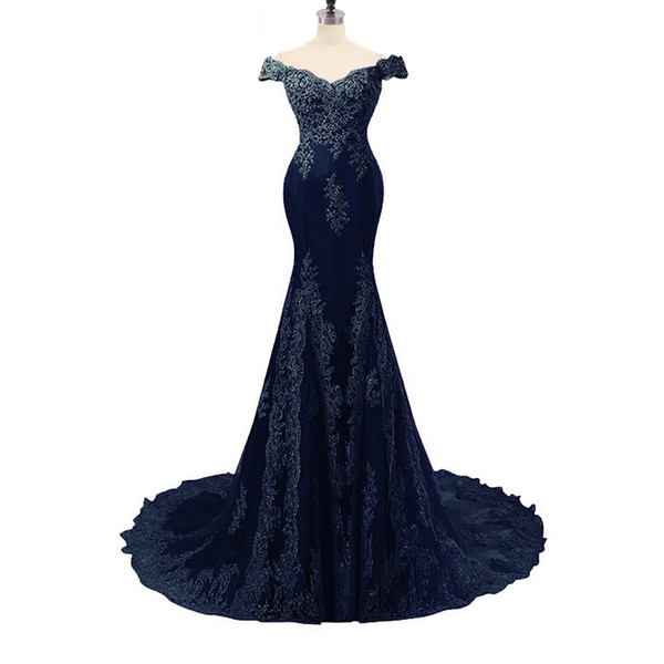 Dress Elegant Sexy V Neck Short Sleeves Mermaid With Appliques Floor Length Long Tulle Party Formal Evening Dresses Gowns for Women Prom