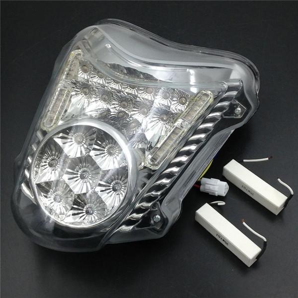 Motorcycle Clear LED Tail Brake Turn Signal Light para Suzuki Hayabusa GSXR1300 2008-2014 2009 2010 2011 2012 2013