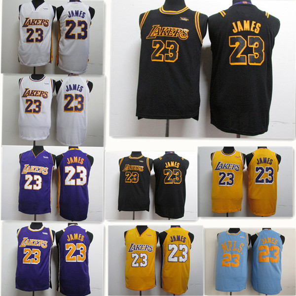 newest 38a4b 98fd2 2018 23 Lebron James Lakers Jersey 2018 2019 Lakers James Basketball New  Jerseys Mens Youth Black The City The Retro From Luishen01, $14.23 | ...