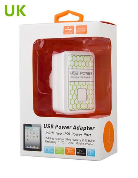 5V mobile phone intelligent USB US UK EU regulation charger standard charging head rule power adapter