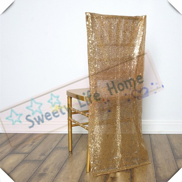 Free shipping Gold Sequin chiavari chair covers/Banquet chair cover/seats for wedding and party outdoor chairs decorations