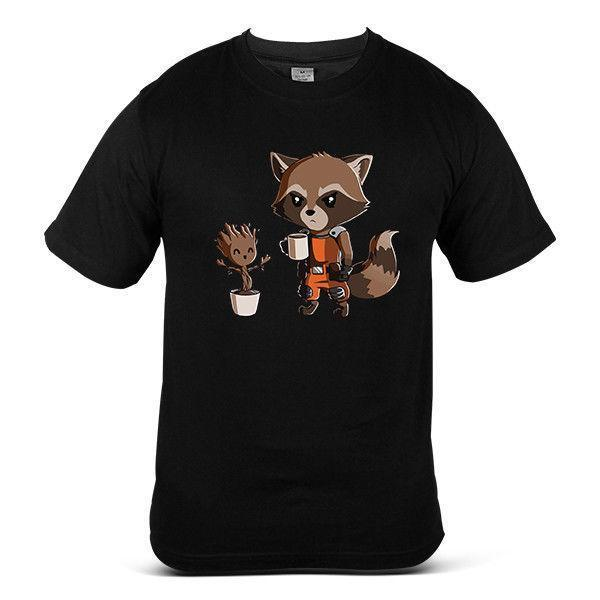Guardian Of Galaxy The Groot Universe Streetwear Style Art Mens Tee T-Shirt