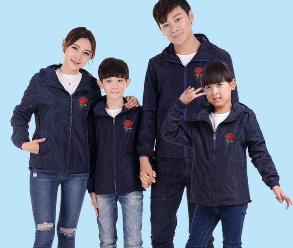 Plus la taille S ~ 6XL 3D Rose polyester hoodies Veste Coupe-vent Hommes Femmes Veste enfants en plein air en plein air Roses Outwear Manteau sport en cours d'exécution