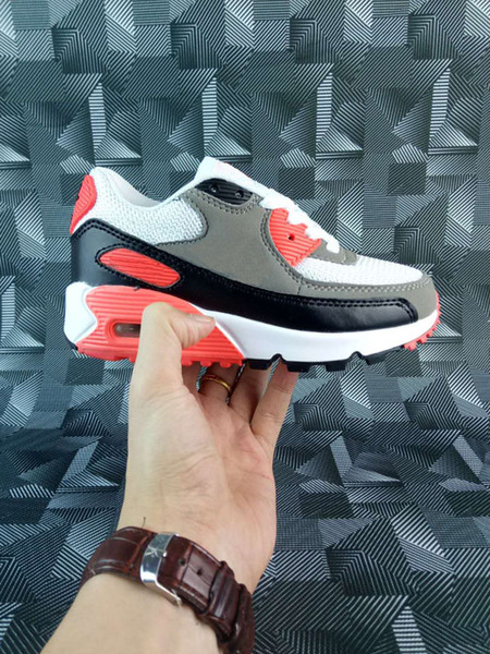 2018 Spring Autumn Children Shoes 90 Red Black Breathable Comfortable Kids Sneakers 90 Boys Girls Toddler Shoes Baby 28-35