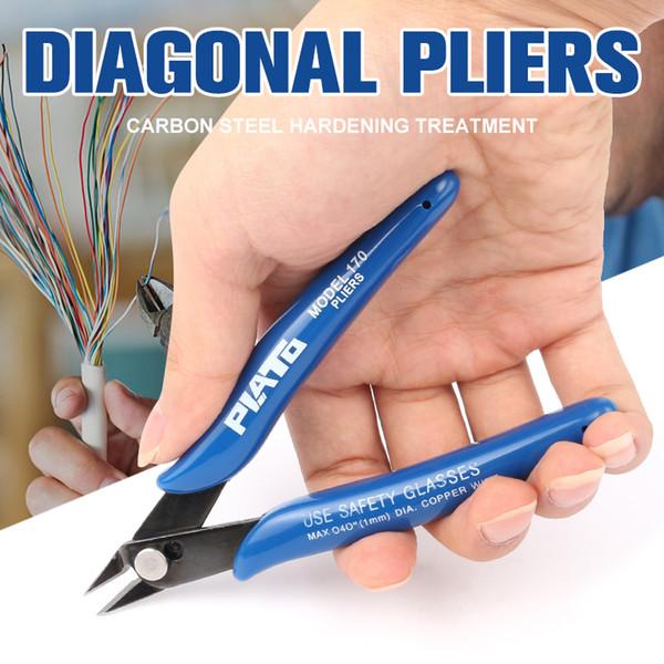 1 pc Azul Lidar Com Alicate Diagonal Cortadores De Cabo de Fio Elétrico Cortar Lados Snips Alicate Flush Nipper Kit de Ferramentas de Mão
