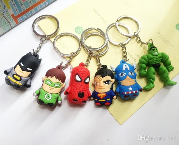 The Avengers Figures Keychains The Avengers Marvel Iron Man Avengers Captain America, Iron Man, Thor IRON MAN PVC keychain