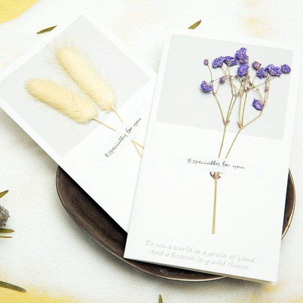 Best greeting cards coupons promo codes deals 2018 get cheap 1pc cutetrue flowers invitation greeting card handmade dry flower birthday wedding party best wishes flower language card gifts m4hsunfo