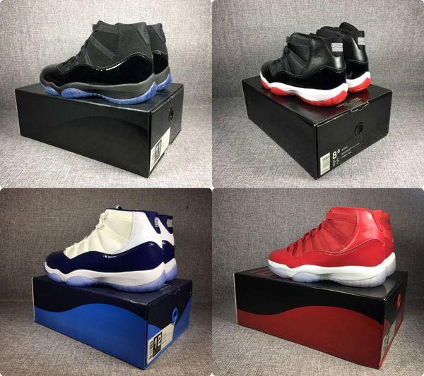 2018 Cap and gown 11 prom night blackout scarpe da basket concordato gamma leggenda blu mens Scarpe sportive da donna da ginnastica Atletica leggera Sneake