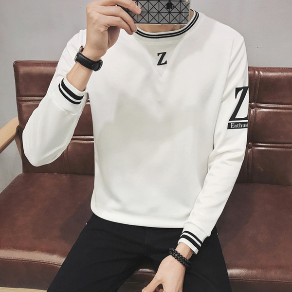 Mens White Red Casual Shirts Long Sleeve Down Clearance Crew Neck T Shirts For Men High Collar Big And Tall Large Size