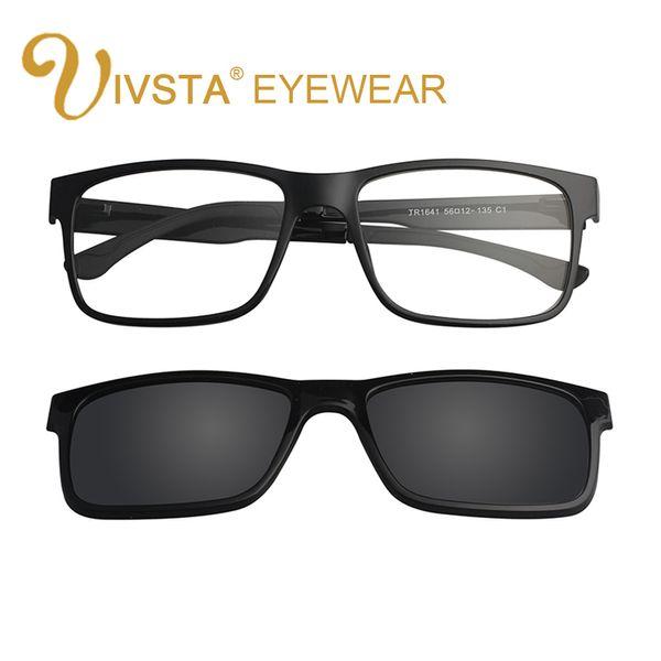 IVSTA Incluir Moldura Magnética Clipe óculos de sol mulheres armações ópticas com clipe em óculos de sol polarizada espelhada ímã miopia