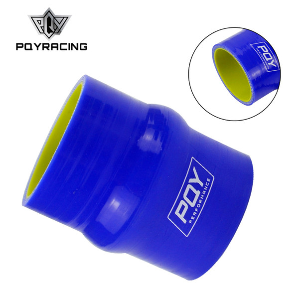 """PQY - Blue&yellow 2"""" 51mm Hump Straight Silicone Hose Intercooler Coupler Tube Pipe PQY-HSH0020-QY"""