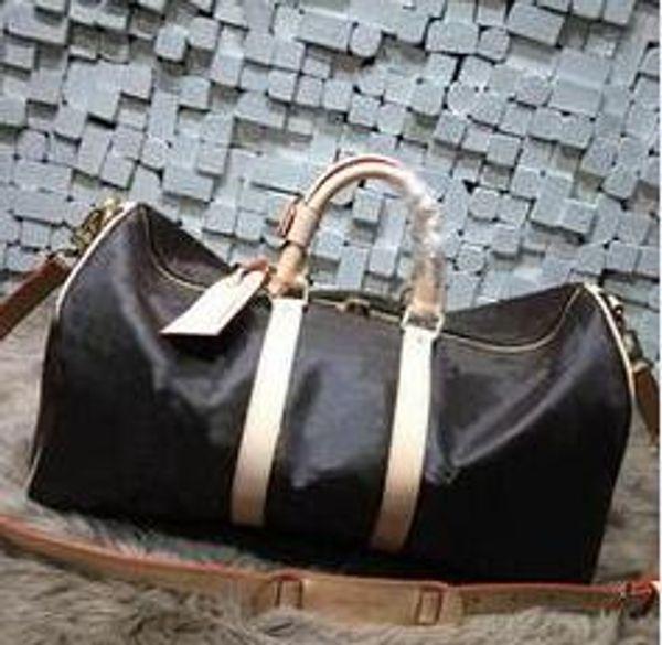 201999 Duffel Bags Brand Designer Handbag for Man Women PU Leather Plaid Tartan Luggage Bag
