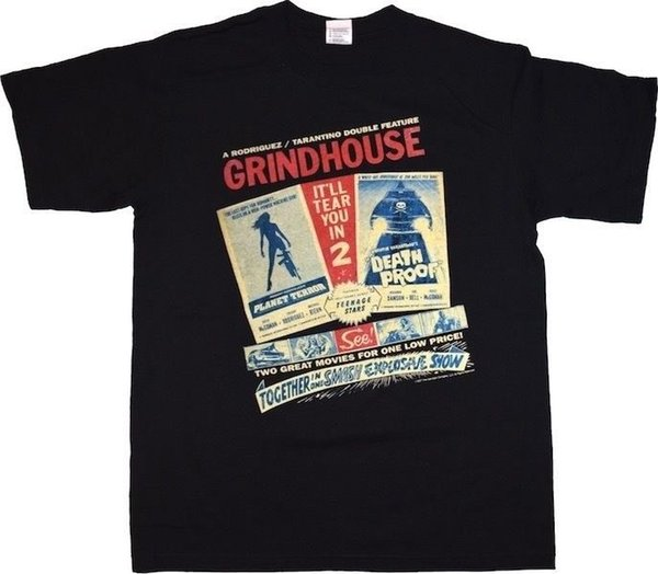Grindhouse Double Feature Brand New Officially Licensed Movie Shirt Style Round Style tshirt