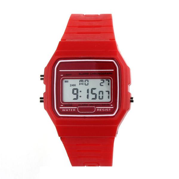 2018 New Silicone Rubber Strap Retro Vintage Digital Watch Boys Girls Mens G0514 Drop Shipping
