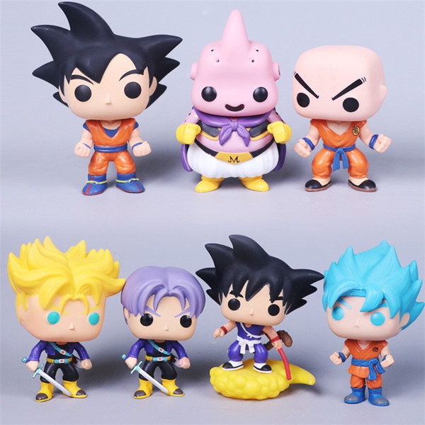7 Styles Dragon Ball Action Model Doll Toys Funko POP Action Figurines PVC Toys Children Cartoon Model Doll For Kids Xmas Gifts ZLA568