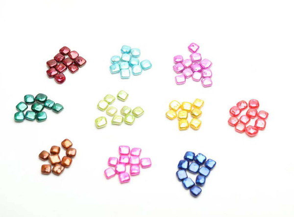 Beautiful square shape loose pearls cultured freshwater oyster baroque shell pearls 10-11mm jewelry diy pearls wholesale