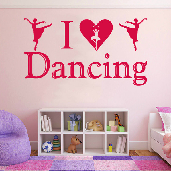 I Love Dancing Dancer Quote Wall Art Decal Sticker Girls Bedroom Home Decor Modern Decal Wall Appliques Wall Art And Decor Stickers From Xymy757