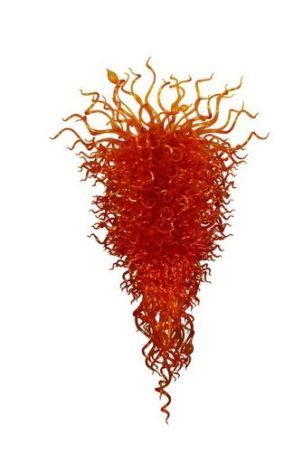 Modern Home Decoration Dale Chihuly Style Murano Glass Chandelier Light Fixture LED Light Source Modern Chain Chandelier Pendant