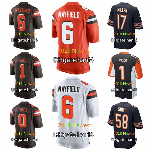 2018 Draft Chicago Bears 58 Roquan Smith 17 Anthony Miller Cincinnati  Bengals 1 Billy Price Cleveland Browns 6 Mayfield 0 Nick Chubb Jerseys e31b1bab3
