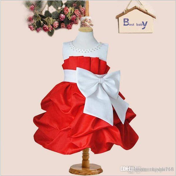 2016 mädchen kleid ist die neueste große bowknot Mädchen Prinzessin Kleid Hochzeit Blumenmädchen Kleid Rock großhandel und re