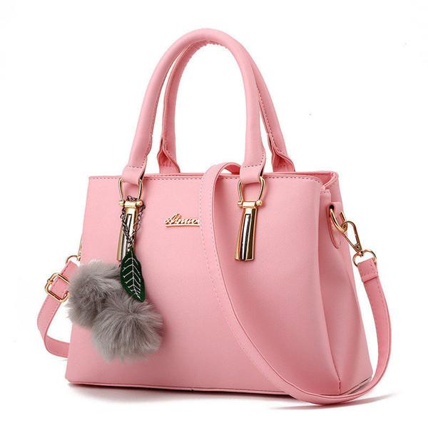 Fashion Women Top-Handle Bags Handbags Women Famous Brands Totes Hair Ball Lichee Pattern Crossbody Bag Shoulder Bag Female