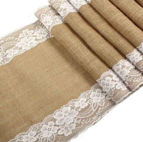 2019 Burlap Table Runner With White Lace For A Wedding Reception Or Rustic Decoration For A Bridal Or Baby Shower From Happylife2014 13 06