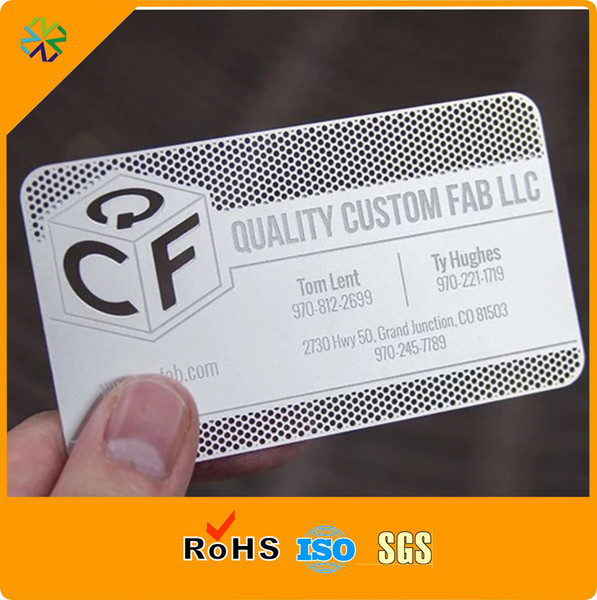 Factory price High quality stainless steel metal card with 1 color printing matte face