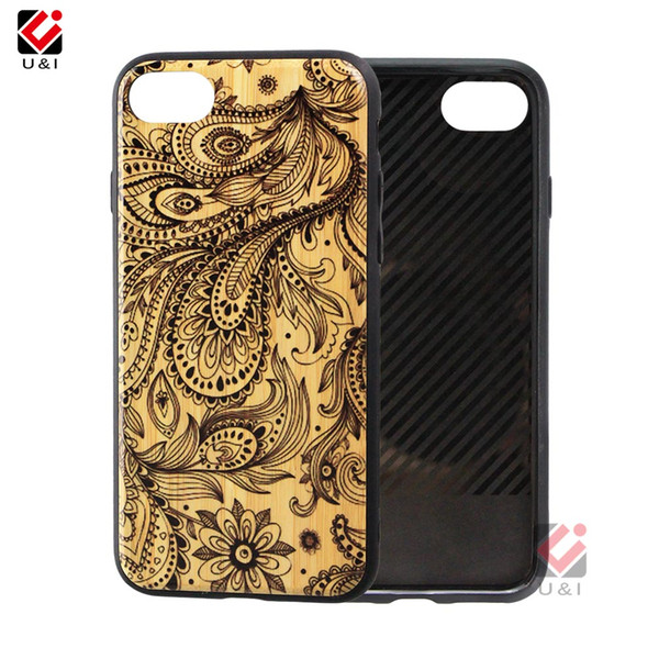 Pattern carved wood phone case for iPhone 6plus 6splus 6 6s plus, wholesale bamboo cell phone case for i Phone i6s i6 plus