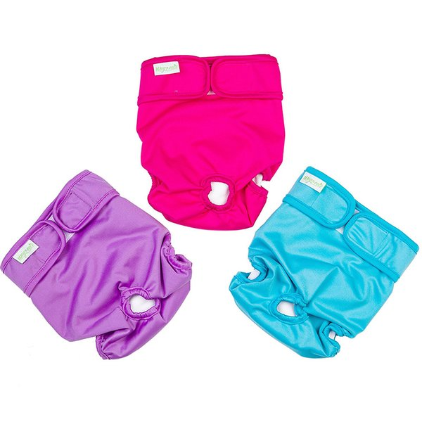 Cheaper Durable Doggie Diapers Plain Color Washable Dog Diapers Cover Ups Sanitary Dog Pants for XS to XL Extra Large Dogs