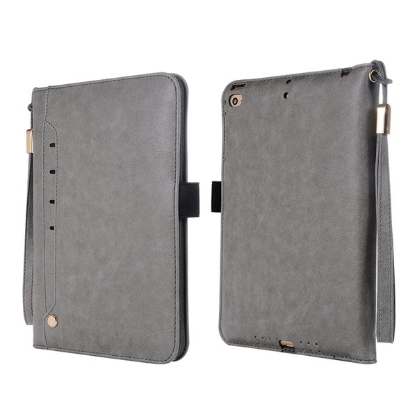 For iPad Mini 3 2 1 Tablet Protective Skin Shell PU Leahter Case with Card Slots for Apple iPad Mini 2 Tablet+Stylus
