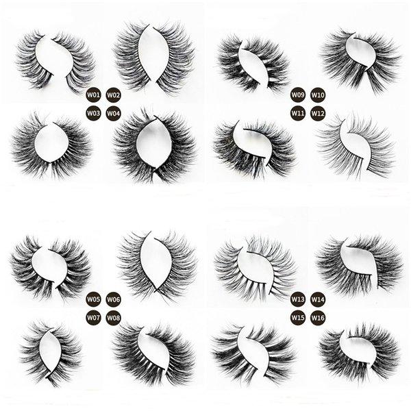 16 Styles Eyelashes 3d Mink Eyelashes Mink Lashes Sexy False Eye Lashes Eye Makeup Handmade Curly Soft Natural Long Eyelash Extension