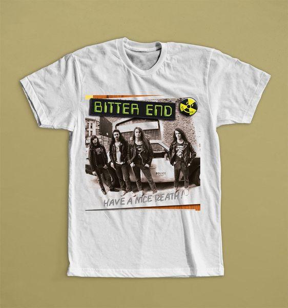 Bitter End Hive Uma Morte Agradável !! Thrash Técnica Bandas Brancas T-shirt S-3xl Verão Mangas Curtas de Algodão T Shirt Moda