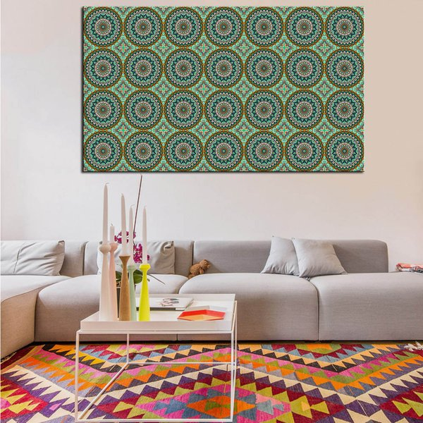wall art decor for living room.htm 2020 mandala circles canvas art oil painting poster and picture  mandala circles canvas art oil painting