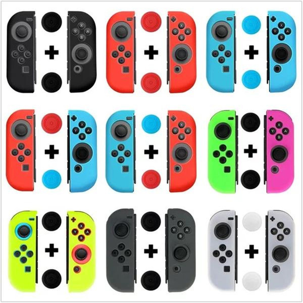 best selling New Silicone Case for Nintendo Switch Joy-Con Design for Nintendo Switch Joy-Con controller Free Shipping DHL