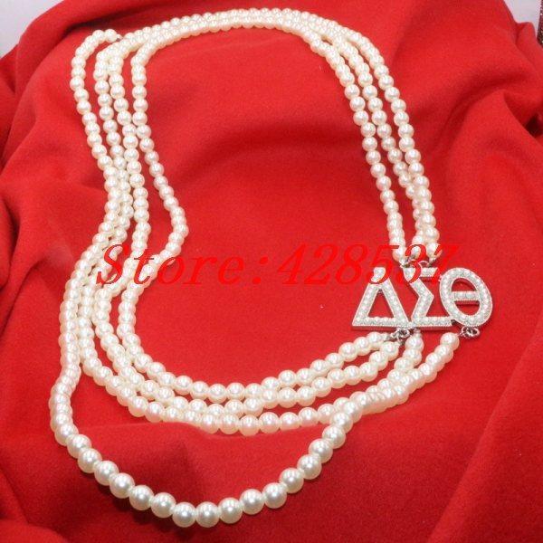 7ec29ef19a01 Compre Envío Gratis Moda DST Griego Sorority Blanco Perla Delta ...