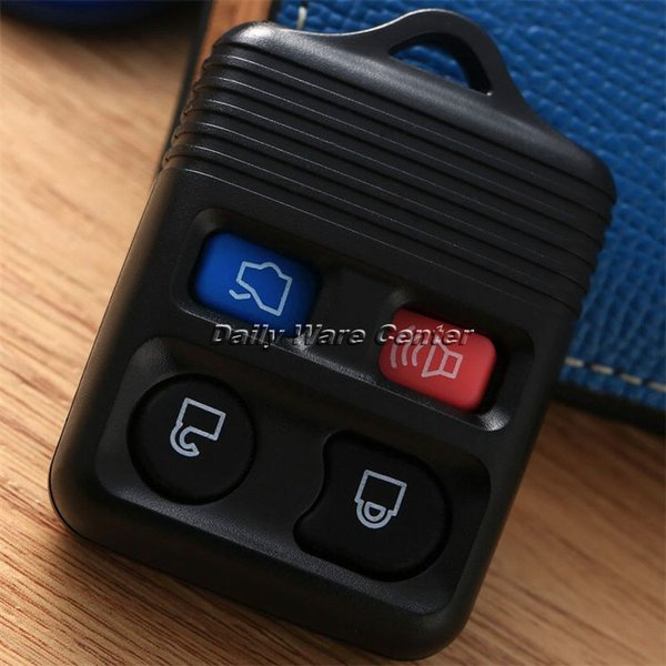 Car Replacement 4Buttons Keyless Entry Remote Fob Transmitter Clicker Beeper Alarm Car Case Shell Cover for Ford Key Smart Locks