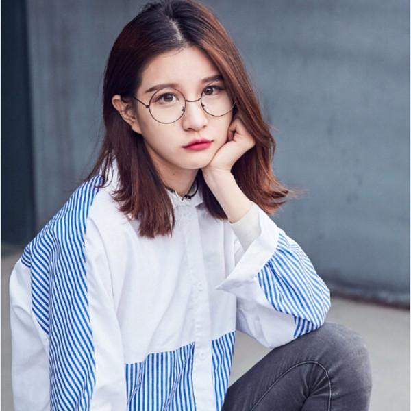 Gafas de lectura de gafas redondas para gafas de marco de metal Lente de lectura de gafas de mujer presbicia