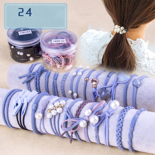 Head rope Korean small fresh hair rope female Department adult simple hair circle headwear hair rubber band hairdressing set