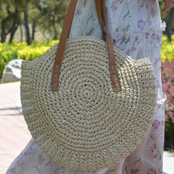 fashion women big straw totes bag crossbody shoulder bag for women modern travel rope beach brand ladies designer handbags