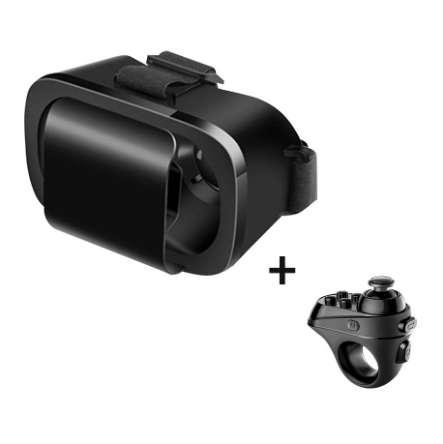 Sanal Gerçeklik Gözlükleri VR 3D Android Samsung Xiaomi Smartphone için Bluetooth Karton Kulaklık Bluetooth Kontrolörleri Gamepad
