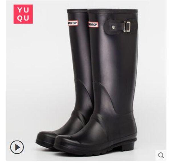 2018 NEW Women RAINBOOTS fashion Knee-high tall rain boots waterproof welly boots Rubber rainboots water shoes rainshoes 61922