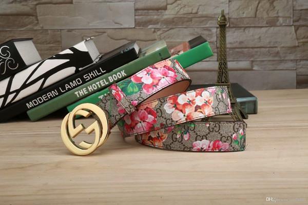 Neue Produkte von 2018, europäischer Stil, hochwertige Mode, Blumengürtel, Luxusgürtel, kostenlose Lieferung!