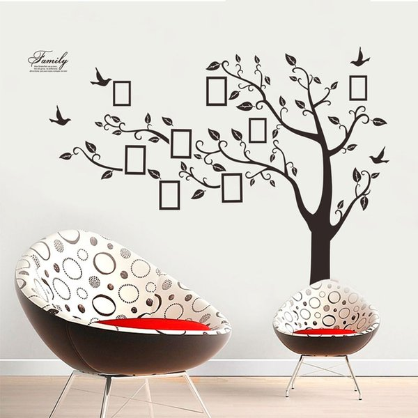New Tree Photo Frame Wall Stickers DIY Art Decal Removeable Wallpaper Mural Sticker for Bedroom Living Room Free shipping