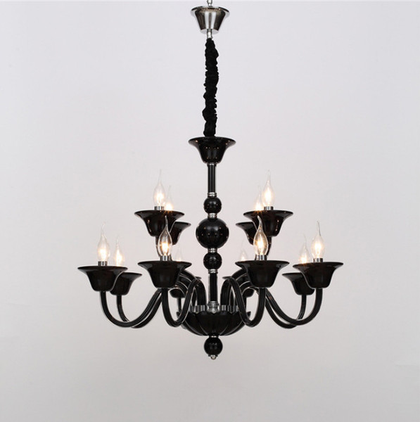 Moderne einfache syle hohe qualität klar weiß schwarz kristall kronleuchter glas lampe glanz cristal hause leuchte für wohnzimmer schlafzimmer