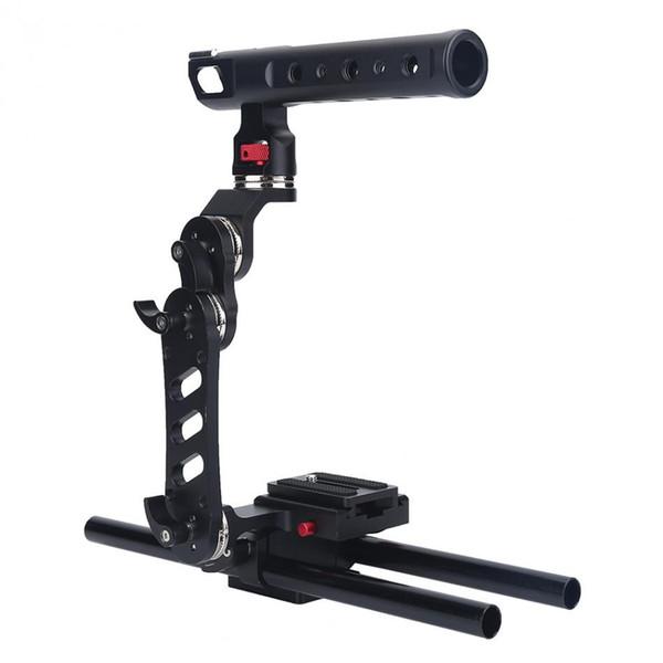 Kamera Stabilizer Cage Rig Halterung mit Schnellwechselplatte für Sony DSLR Kameras für Canon Universal