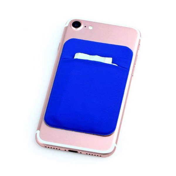 Credit Card Secure Holder Stick on Wallet [ Lid ] Discreet ID Lycra Spandex Cards Sleeves 3M Adhesive Gadget For iphone ipad phone Case